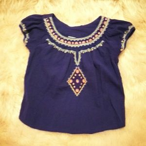 Blouse  Purple with Embroidery.